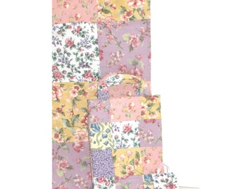 The Flower Patch Mother /Daughter/Doll Patchwork Tote Set