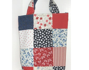 Americana  Patchwork Knitter's Tote