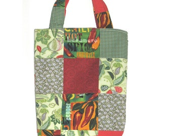Bowl of Salsa Patchwork Knitter's Tote