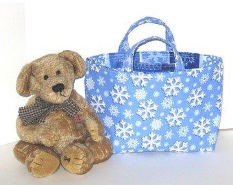 Kid's Korner--Snowflake Bag - 50% of sale is donated to Project Linus