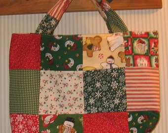Christmas Time  Crafter's Patchwork Tote