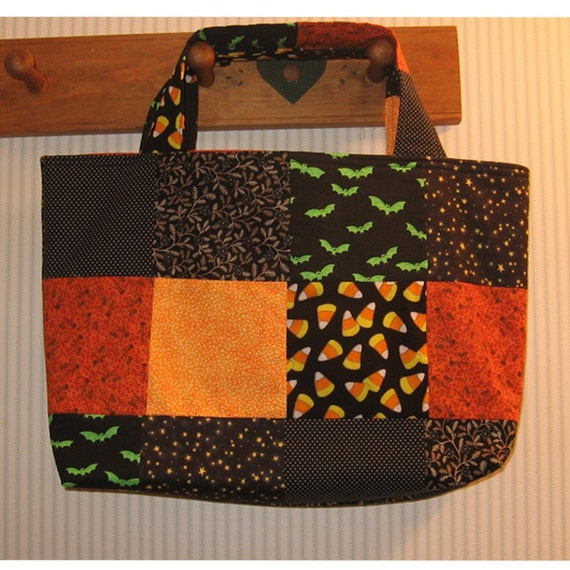 Jeepers Creepers Halloween Crafter's Patchwork Tote