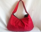Hobo - Red Floral Small slouch bag - handmade handbags - Made to Order