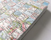 Recycled Woven Vintage Map Journal (Gift set of 3)