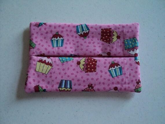 Fabric Tissue Holder - Cupcakes