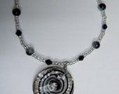 Black and White Pendant Necklace