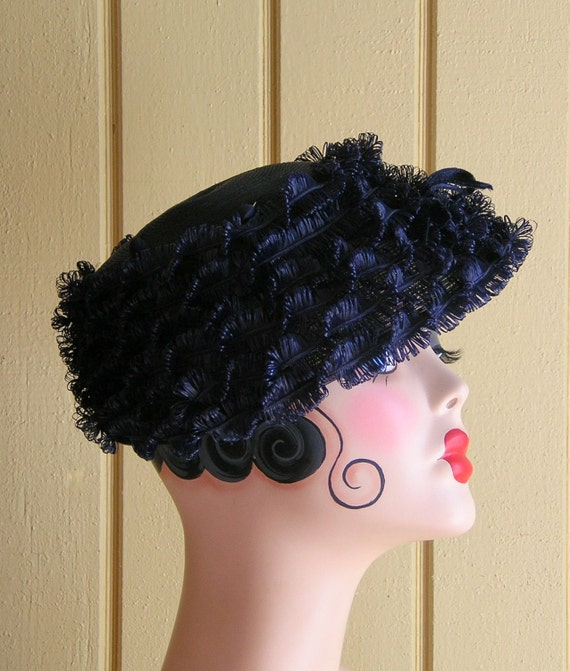 Vintage Navy Five Layered Hat