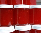 Jam favors, party favors, Strawberry jam favor, Spread the love with 125 of our 4 oz jars