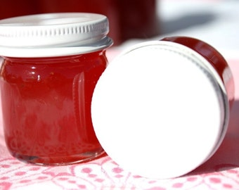 little bit of heaven strawberry pineapple jam sample wedding party favor