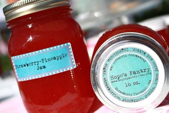 16 oz jar of Strawberry pineapple homemade jam by Hopes Pantry on Etsy