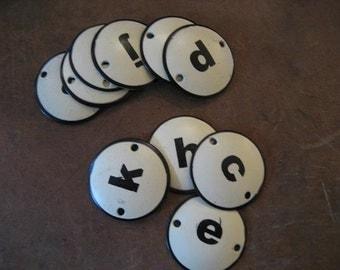 SALE!!! Enamel Letter Plates