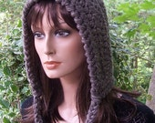 ON SALE Womens or Teen Pixie Hat (Glittery Cozy Taupe) - Ready to Ship