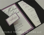 The Andria Invitation Suite Pocket Fold Package