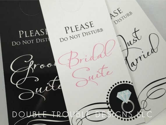 Wedding Day and Night Door Hangers (set of 3)