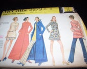 Vintage McCall 2279 from 1970 size 12 bust 32 separates and coat sewing pattern