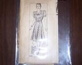 Vintage Anne Adams 4305 Bust 34 Late 30s Early 40s Swing Style Dress Pattern