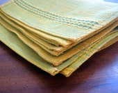 Rserved for PearlMusic- Vintage Green and Yellow Placemats