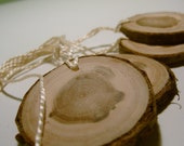 Reserved Wooden Tree Branch Hang Tags Ornament Blanks Cherry  2 inch