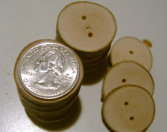 150 Tree Branch Buttons Wooden Wedding Button 1 inch Reclaimed Wood