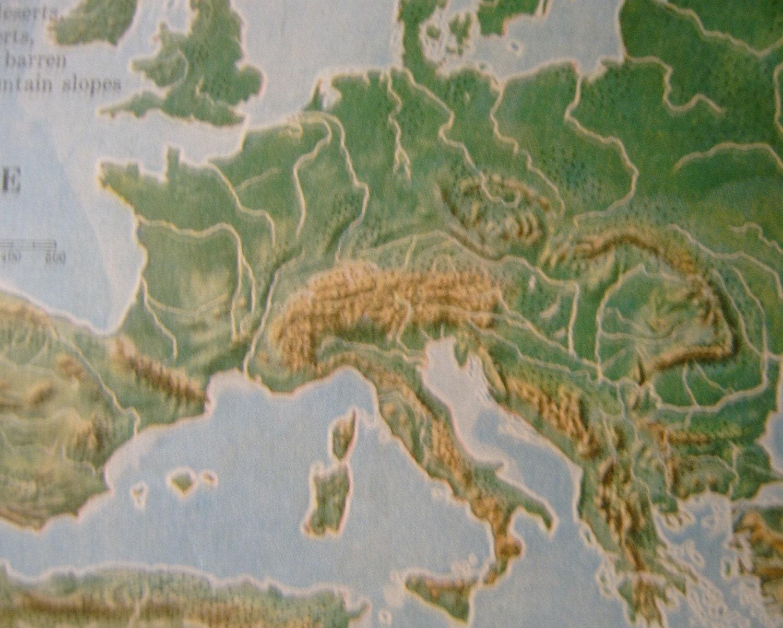 Europe Antique Topographic Map