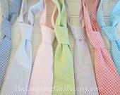 Simply Seersucker...Classic Mens Tie, Easter Seersucker Tie