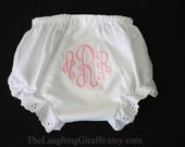 Monogrammed Prissy Pants/Diaper Cover for Your Little Princess - Customized Personalized