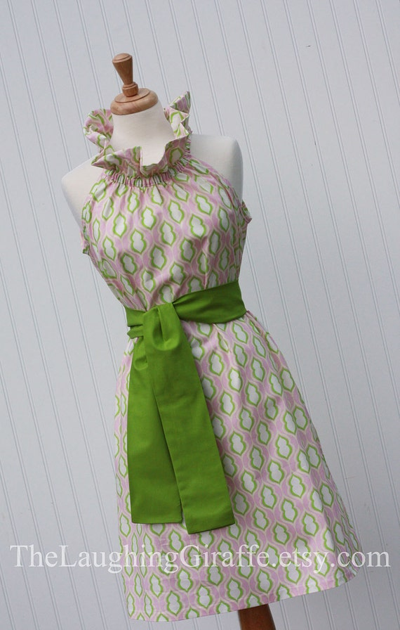 NEW - Charlotte...Women's Ruffler Dress with Removable Sash...Size XX-Small, X-Small, Small, Medium, Large...by The Laughing Giraffe