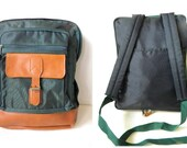 SALE Nylon and faux leather backpack