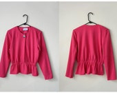SALE 90s MEDIUM cotton hot pink blouse