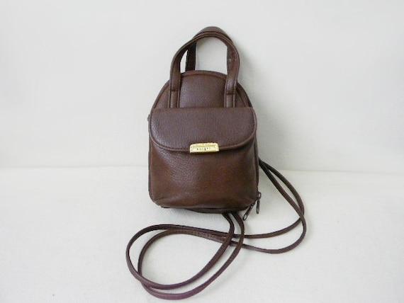 SALE 90s Rosetti brown vinyl mini backpack