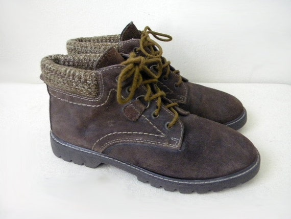 SALE SIZE 8.5 Northwest Territory brown leather lace up boots