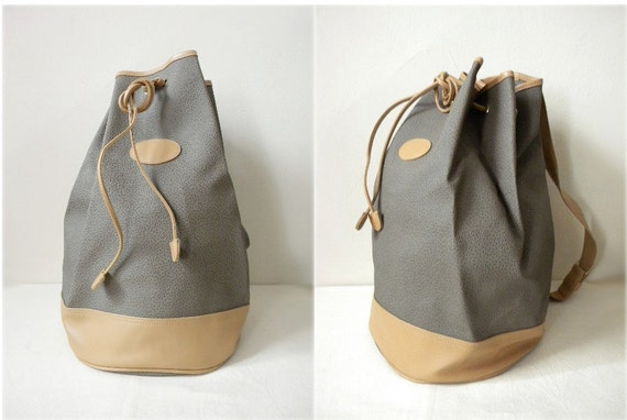 RESERVED SALE 90's drawstring bucket bag