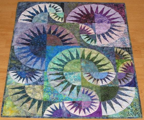 Handmade New York Beauty Batik Wall Quilt