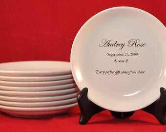 Personalized Baby Dish for Baptism or New Baby