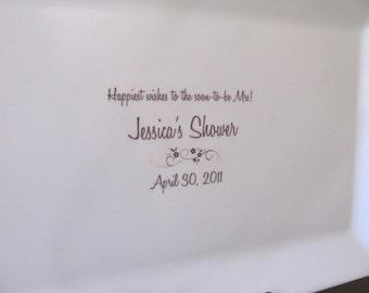 Bridal Shower Guest Book Signature Platter up to 75 signatures