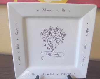 Family Name Custom Platter