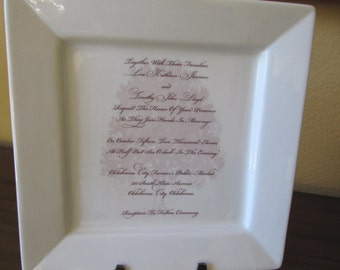 Your Wedding or Shower Invitation Custom Platter