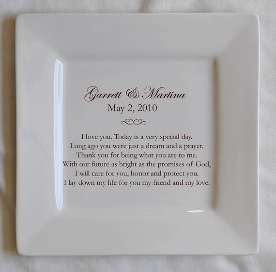Personalized Wedding Vows: Items Similar To Personalized Wedding Vows Platter On Etsy