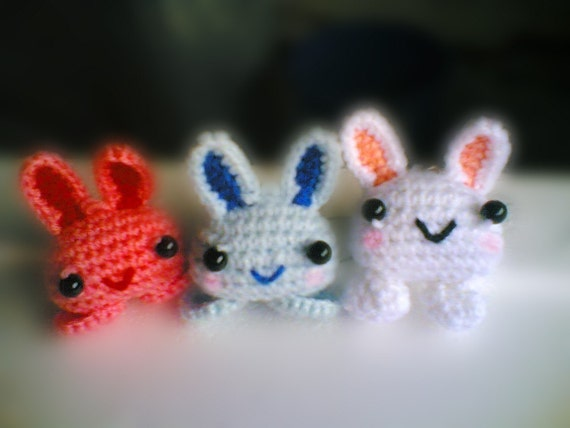 Amigurumi Bunny Keychain : Amigurumi Love Bunny Keychain PDF