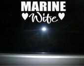 Marine Wife vinyl car decal sticker NEW