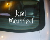 Just Married Window Car Decal Vinyl Sticker