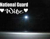 National Guard Wife vinyl car decal sticker NEW