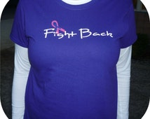 Personalized t-shirt Relay for Life cancer awareness FIGHT BACK