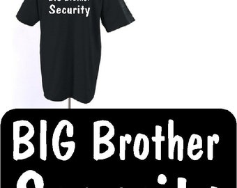 Shirt Big Brother Security Black Youth Tshirt