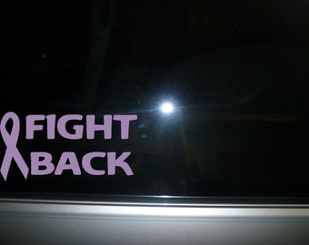Relay for Life Fight Back car decal vinyl sticker NEW