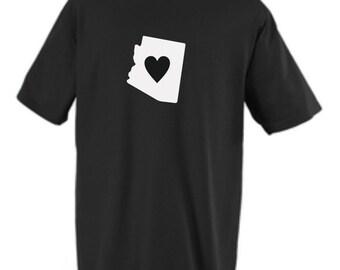 Arizona state shirt custom heart design