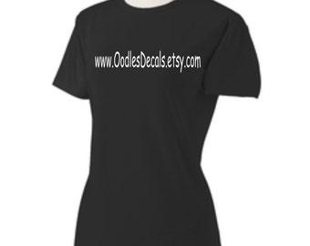 Etsy Shop Shirt Your Custom Etsy Shop Url Black T-shirt