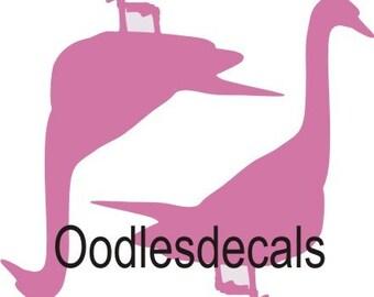 DIY pink swan fabric iron on decal shirt transfer