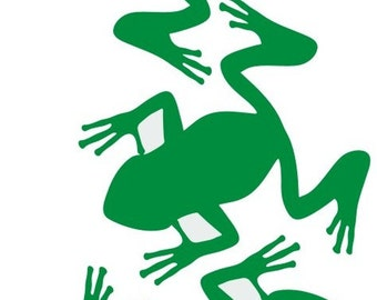 Frog Fabric Embellishments Iron On Decal Or Shirt Transfer