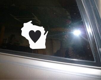 Wisconsin state car decal sticker vinyl
